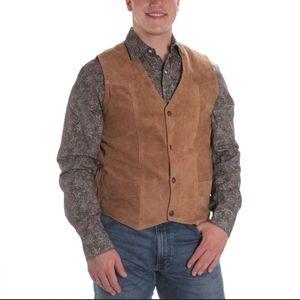 (Cripple Creek) NWT Men's Suede Leather Brown Vest